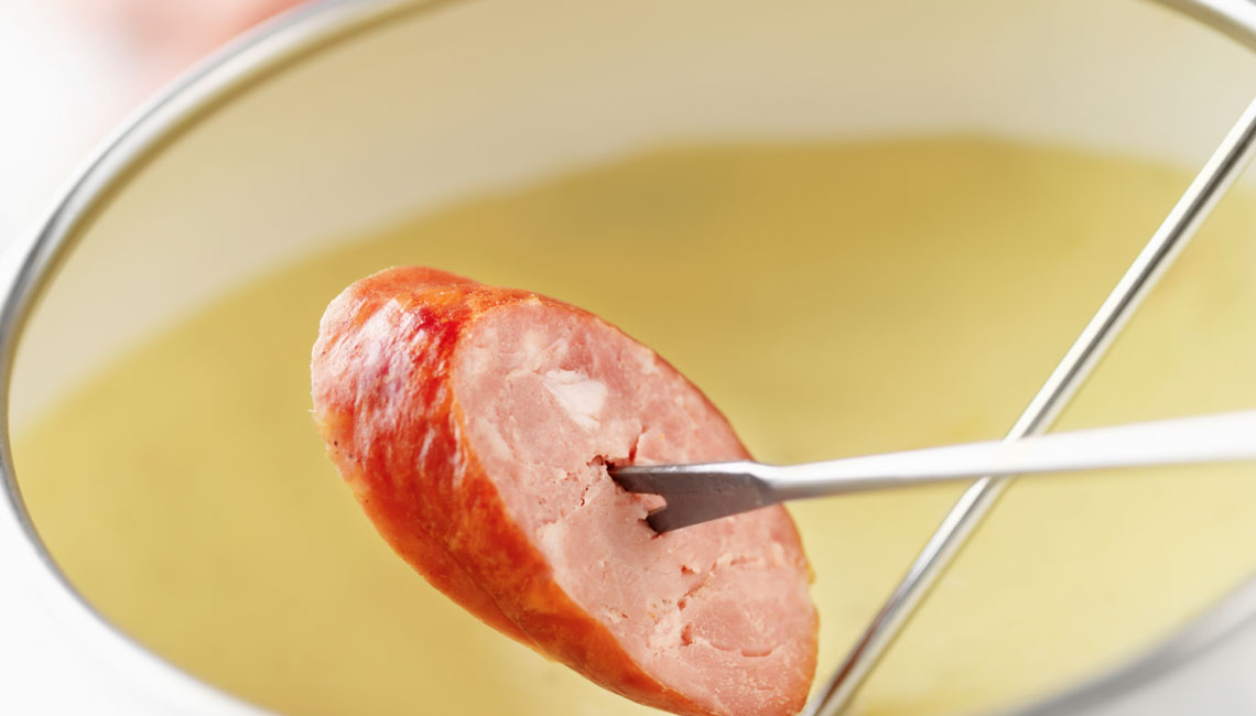 Sausage-Fondue