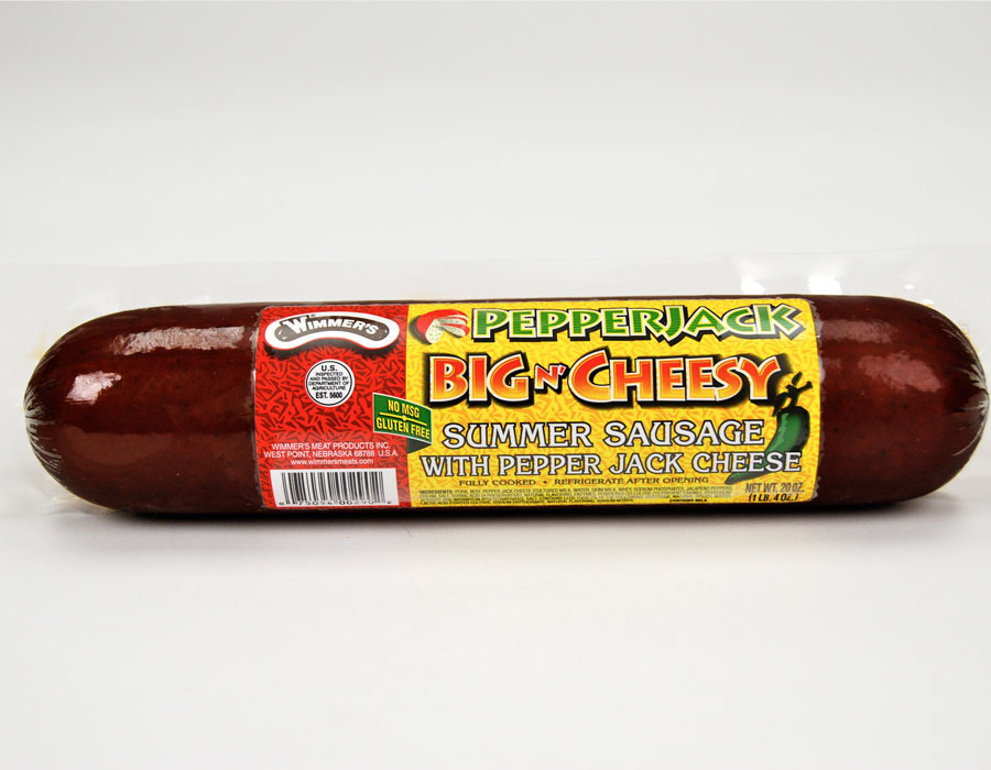 Wimmer S Big N Cheesy Pepper Jack Summer Sausage